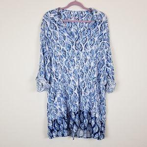 Lilly Pulitzer Lillith Tunic Dress Resort White XL